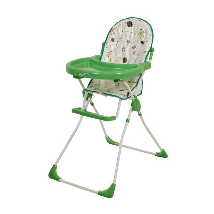 Стульчик для кормления Selby 152 «Космическое путешествие», цвет зеленый