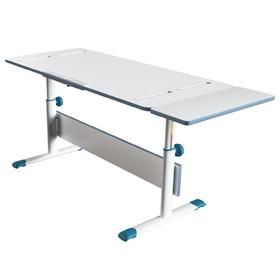 Комплект растущая парта-трансформер Polini kids City D2 с боковой приставкой, 140х55 см, синий