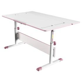 Комплект растущая парта-трансформер Polini kids City D2 с задней приставкой, 120х75 см, розовый