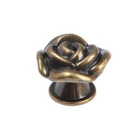 Ручка кнопка TUNDRA Rose 01, цвет бронза - фото 7416140