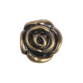 Ручка кнопка TUNDRA Rose 01, цвет бронза - фото 7416141