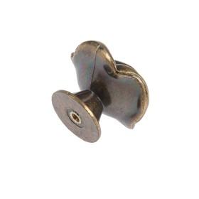 Ручка кнопка TUNDRA Rose 01, цвет бронза - фото 7416142