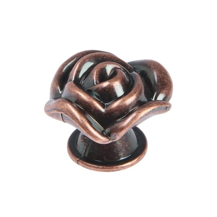 Ручка кнопка Rose 01, цвет медь - фото 700594352