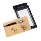 Набор подарочный 2в1: ручка, 2 запонки, черный