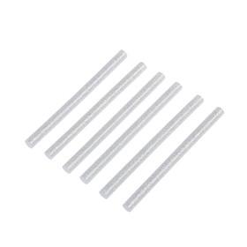Клеевые стержни TUNDRA, 7 х 100 мм, серебристые с блестками, 6 шт. Ош