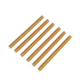 Клеевые стержни TUNDRA, 7 х 100 мм, золотистые с блестками, 6 шт. Ош