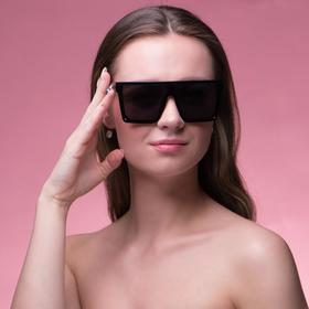 "Очки солнцезащитные ""Мастер К."", uv 400, 15х15.5х5 см, линза 5.5х5.5, чёрные"