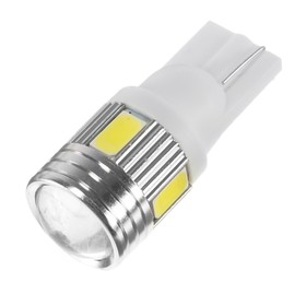 Autolamp led T10 6 LED, 3W, lens, glow white