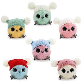 Мягкая игрушка «КТОтик в шапке с двумя помпонами», 13 см, цвет МИКС