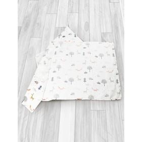Простыня-уголок Bath time, размер 70 × 120 см, муслин, принт лисичка