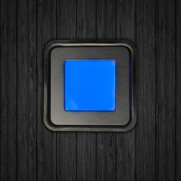Набор сверхплоских врезных светильников 6 шт, IP66, 0.5 Вт/шт, 12 В, МУЛЬТИ, форма квадр