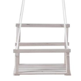 Качели детские подвесные, деревянные, сиденье 28×34,5см