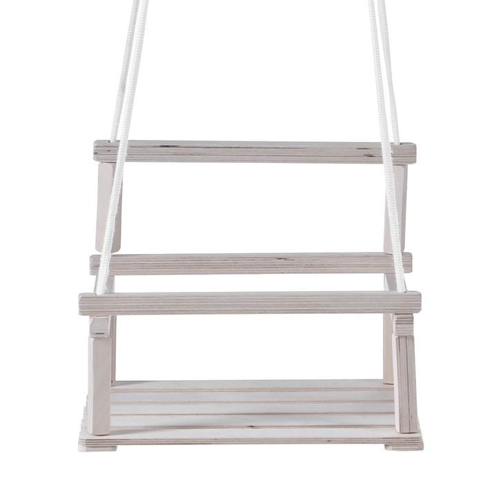 """Качели подвесные """"Классик"""", деревянные, капроновый шнур, 28×34.5 см"""