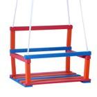 Качели детские подвесные, деревянные, сиденье 28×34,5см - фото 105452640