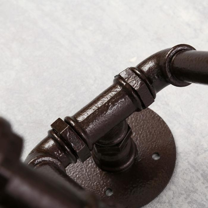 Бра 4426/2 E27 60Вт коричневый 44х30х29 см - фото 308935446