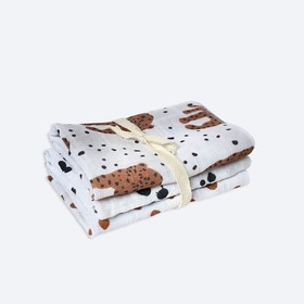Набор салфеток, размер 25×25 см-3 шт, принт леопарды