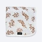 Одеяло, размер 75 × 100 см, муслин, принт листья