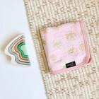 Одеяло, размеры 120 × 120 см, муслин, принт rose quartz metallic/giraffe spots