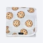 Одеяло, размер 75 × 100 см, муслин, принт печенье