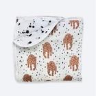 Одеяло, размер 75 × 100 см, муслин, принт леопарды
