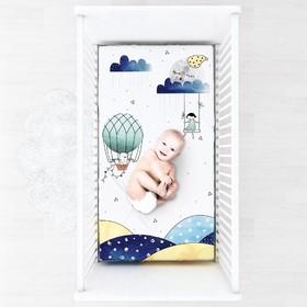 Простыня на резинке, размер 60 × 120 см, принт sweet dreams