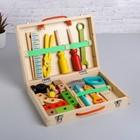 """Educational game """"Set the carpenter + the designer briefcase"""" 7х30х23 cm"""
