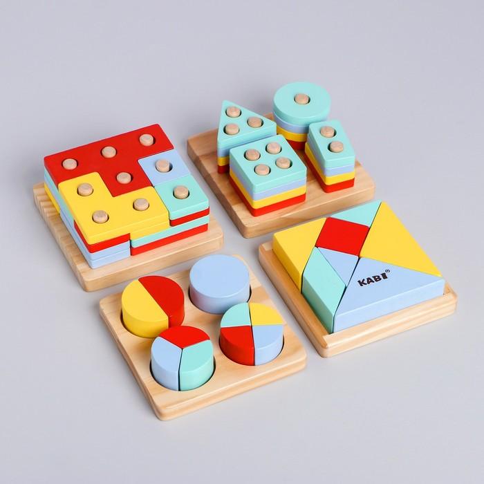 Развивающий набор головоломок «Монтессори» 5,5×29,5×25,5 см