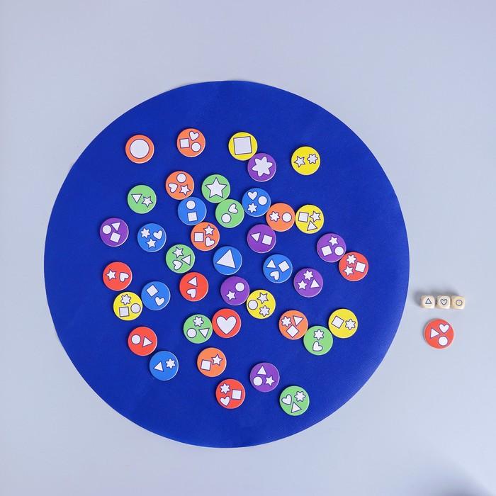 Развивающая игра «Подбери фишку» 4,5×19,8×15 см - фото 105587070