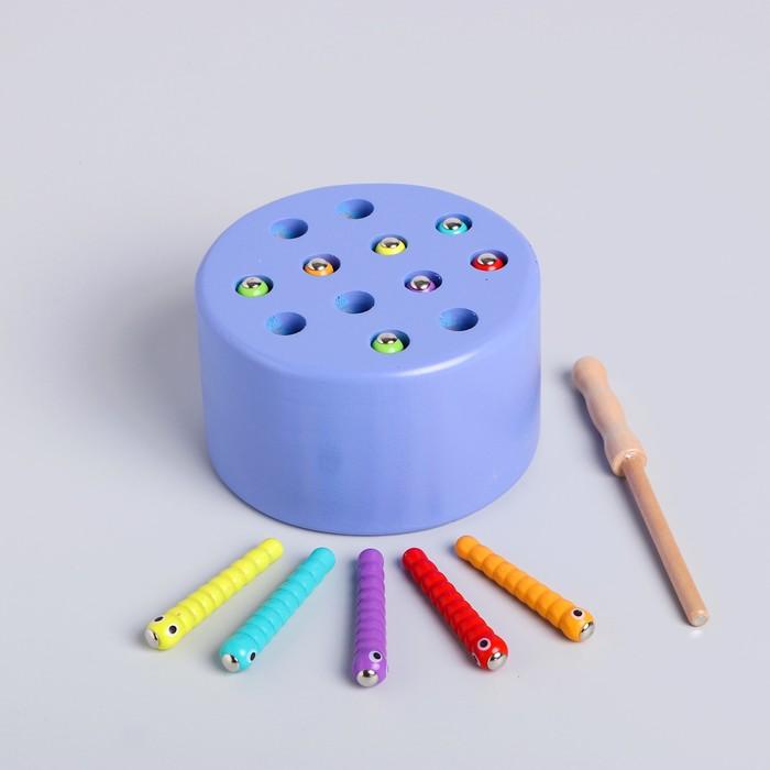 Развивающая игра «Рыбалка цветная» 7×15×14 см, МИКС