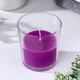 """Candle in glass scented smooth """"Mountain lavender"""""""