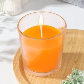 """Свеча в гладком стакане ароматизированная """"Сочное манго"""""""