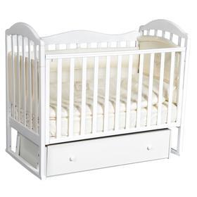 Детская кровать «Кедр» Emily-1 универсальный маятник, фигурная спинка, ящик, цвет белый