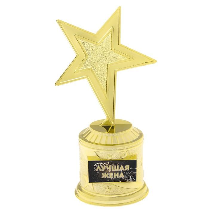 """Фигура звезда литая """"Лучшая жена"""",16,5 х 6,3 см - фото 798466652"""