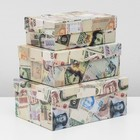 "Set boxes 3 in 1 ""Money"", 23 x 16 x 9.5 - 19 x 12 x 6.5 cm"