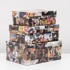 """Set boxes 3 in 1 """"Renaissance"""", 23 x 16 x 9.5 - 19 x 12 x 6.5 cm"""