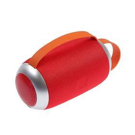 Портативная колонка LuazON LAB-54, 10 Вт, microSD, AUX, USB, красная