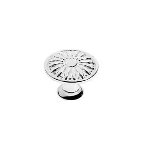 Ручка кнопка TUNDRA РК122CP (FE112CP), хром