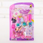 Carriage for dolls with figurines, accessories, MIX