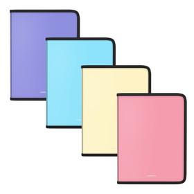 Папка пластик А5+ молния вокруг ErichKrause цветная Matt Pastel микс 50357