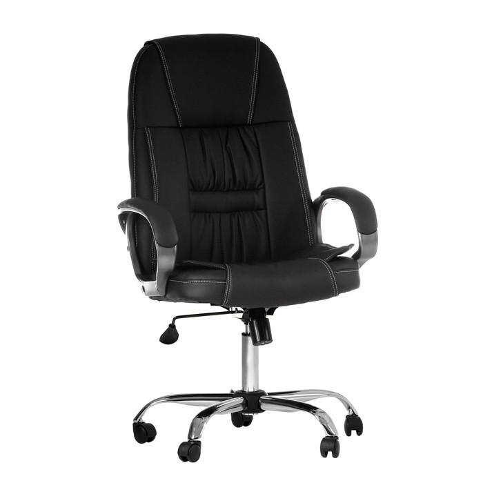 """Кресло руководителя """"Консул"""", экокожа, черное МК-01"""