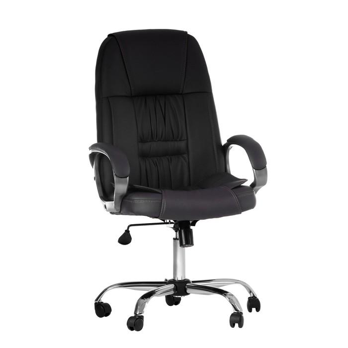 """Кресло руководителя """"Консул"""", экокожа, коричневое МК-01"""