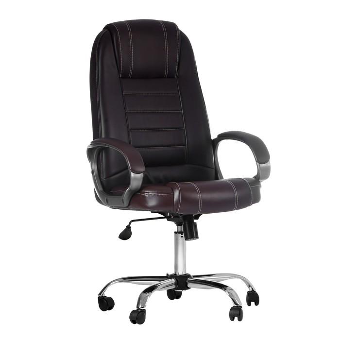 """Кресло руководителя """"Атлант"""", экокожа, коричневое МК-02"""