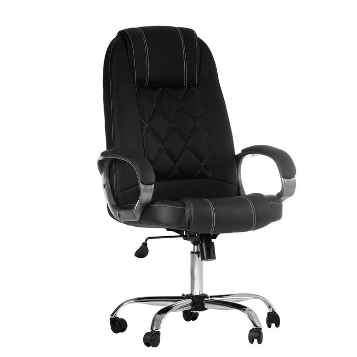 """Кресло руководителя """"Дипломат"""", экокожа, черное МК-012"""