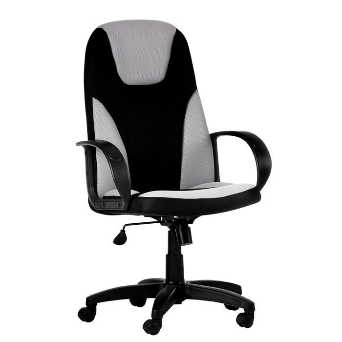 """Кресло руководителя """"Матрикс"""", экокожа/ткань, черное МК-051"""