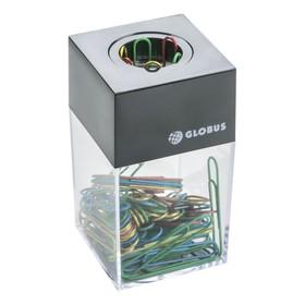 Диспенсер для скрепок GLOBUS, магнитный (скрепки цветные: 70 шт., 50 мм)