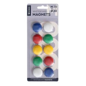 Магниты для досок 30 мм, 10 штук, GLOBUS цветные, в блистере