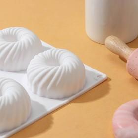 {{photo.Alt || photo.Description || 'Форма для муссовых десертов и выпечки Доляна «Вихрь», 29,8×17,5 см, 6 ячеек, цвет МИКС'}}