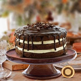 Подставка для тортов из натурального кедра Magistro, 26×9 см, цвет шоколадный