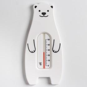 Термометр универсальный «Мишка», цвет белый