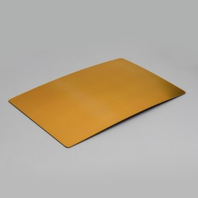 The substrate is reinforced, rectangular, gold - pink, 40 x 60 cm, 3.2 mm